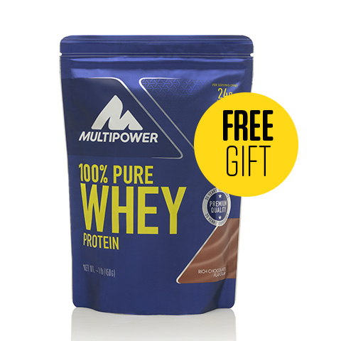 FREE Multipower Whey Protein worth £25