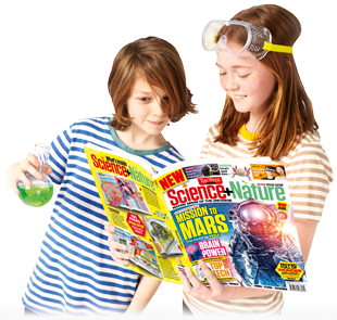 Kids reading Science+Nature