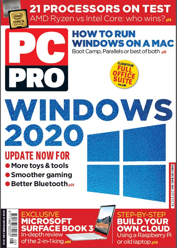 PC Pro cover September 2020 - issue number 311