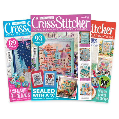 CrossStitcher latest issue covers