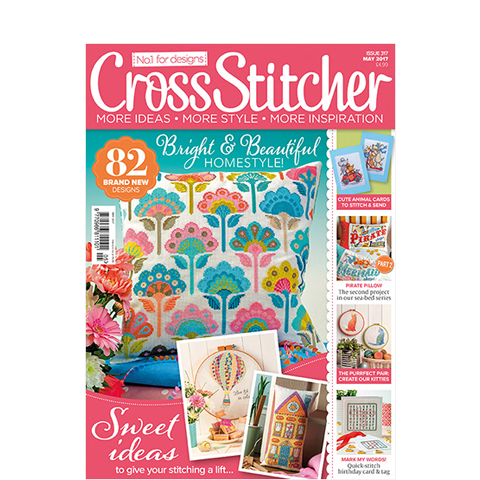 Subscribe to CrossStitcher magazine and get 3 issues for £1