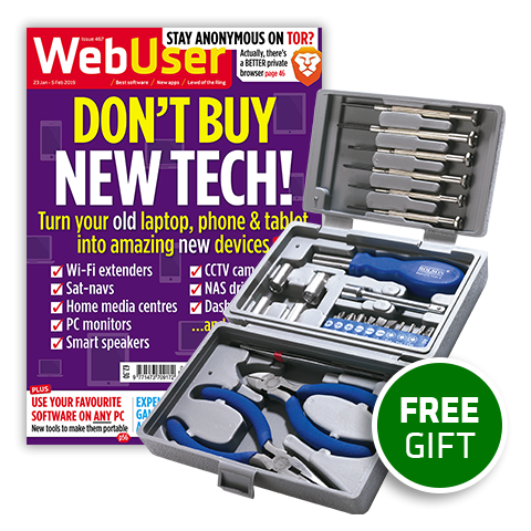 Web User magazine and 26-piece Toolkit