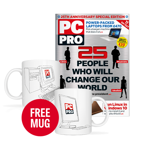 PC Pro 300th issue + anniversary mug