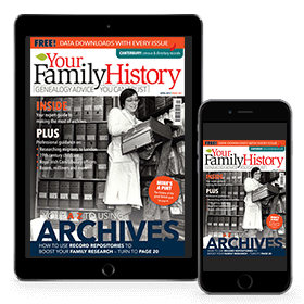 Your Family History overseas digital subscription