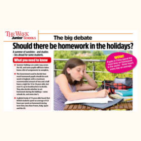 Should there be homework in the holidays?